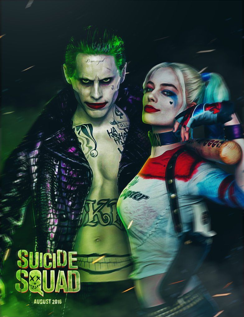 Suicide Squad Joker and Harley by ehnony The Joker