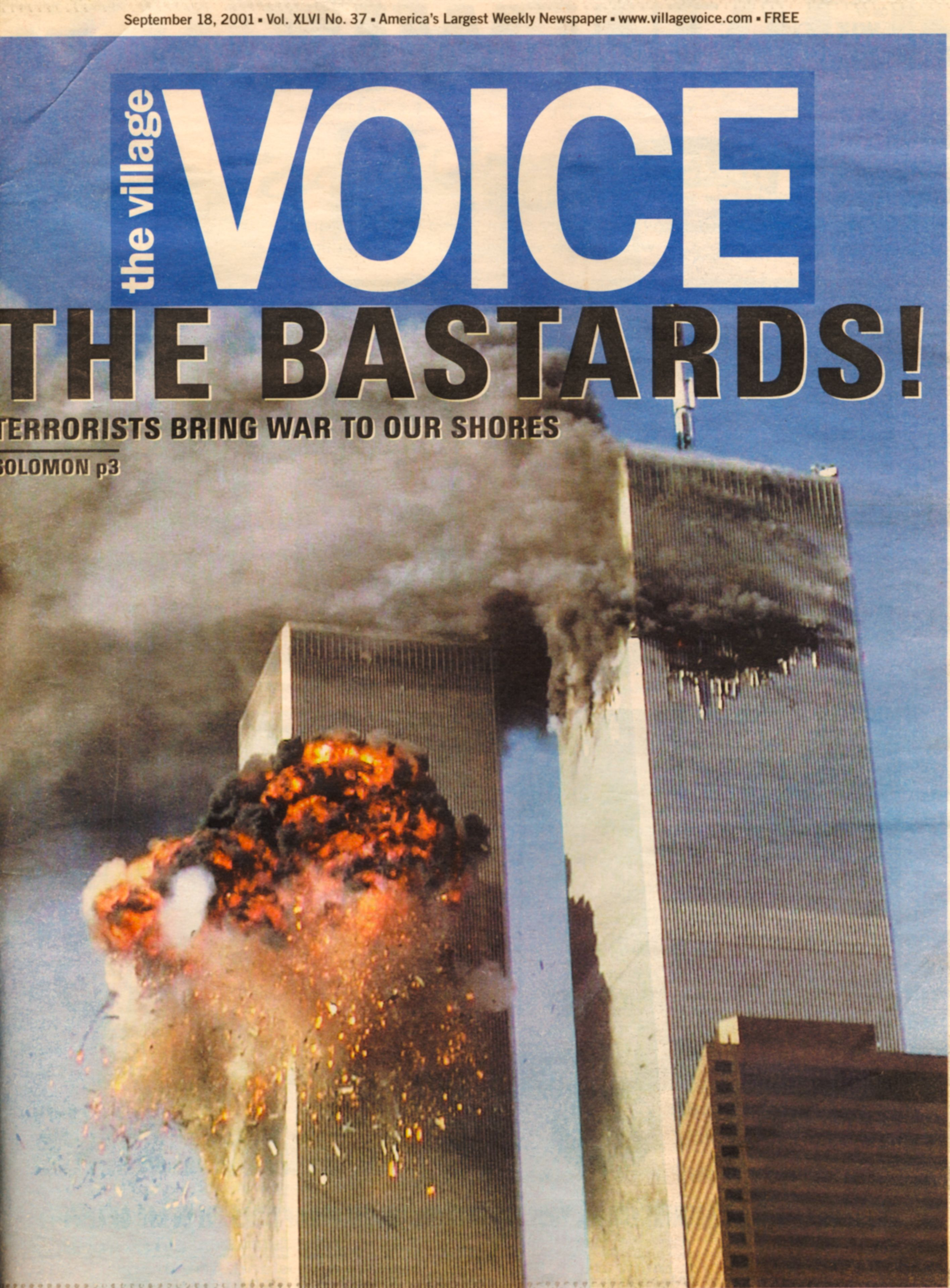 The Village Voice cover in the wake of September 11th