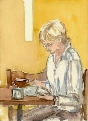Gordon Werner, Elizabeth - Blond woman reading