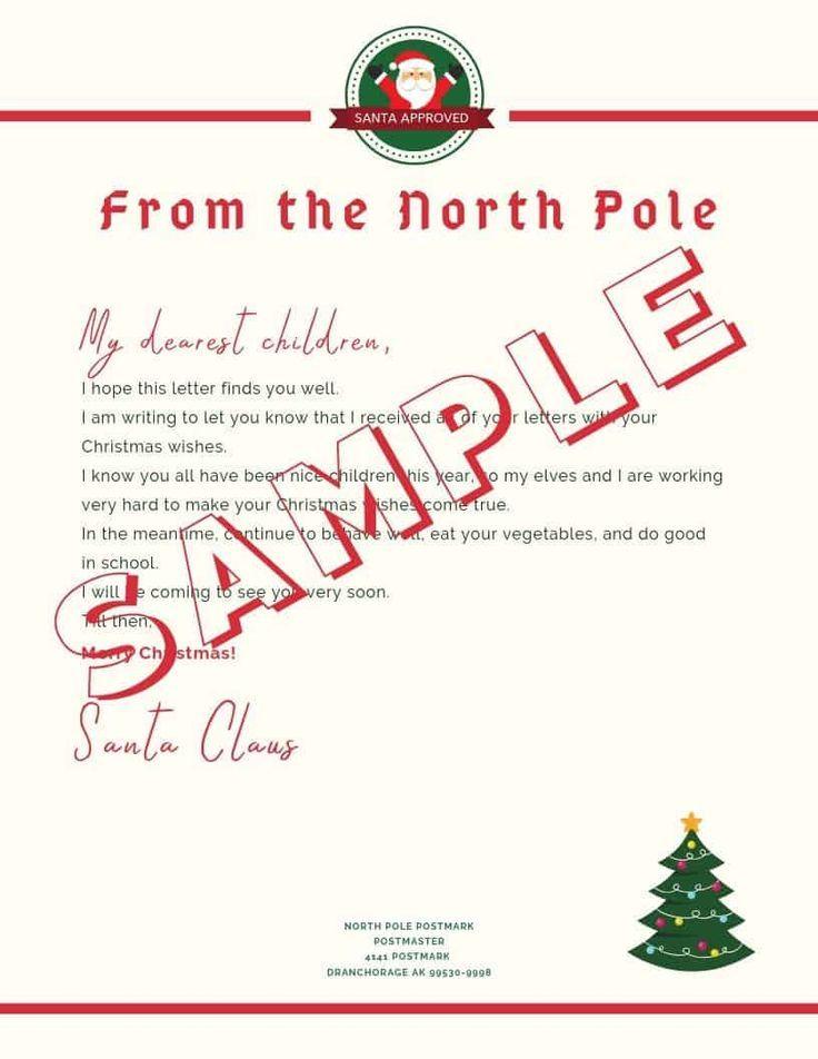 5 Letter to Santa Template Printables (Downloadable PDF