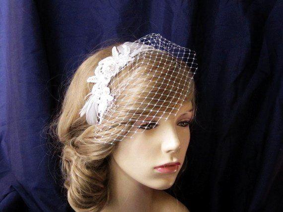 Vintage Lace Headband with pearl rhinestone center