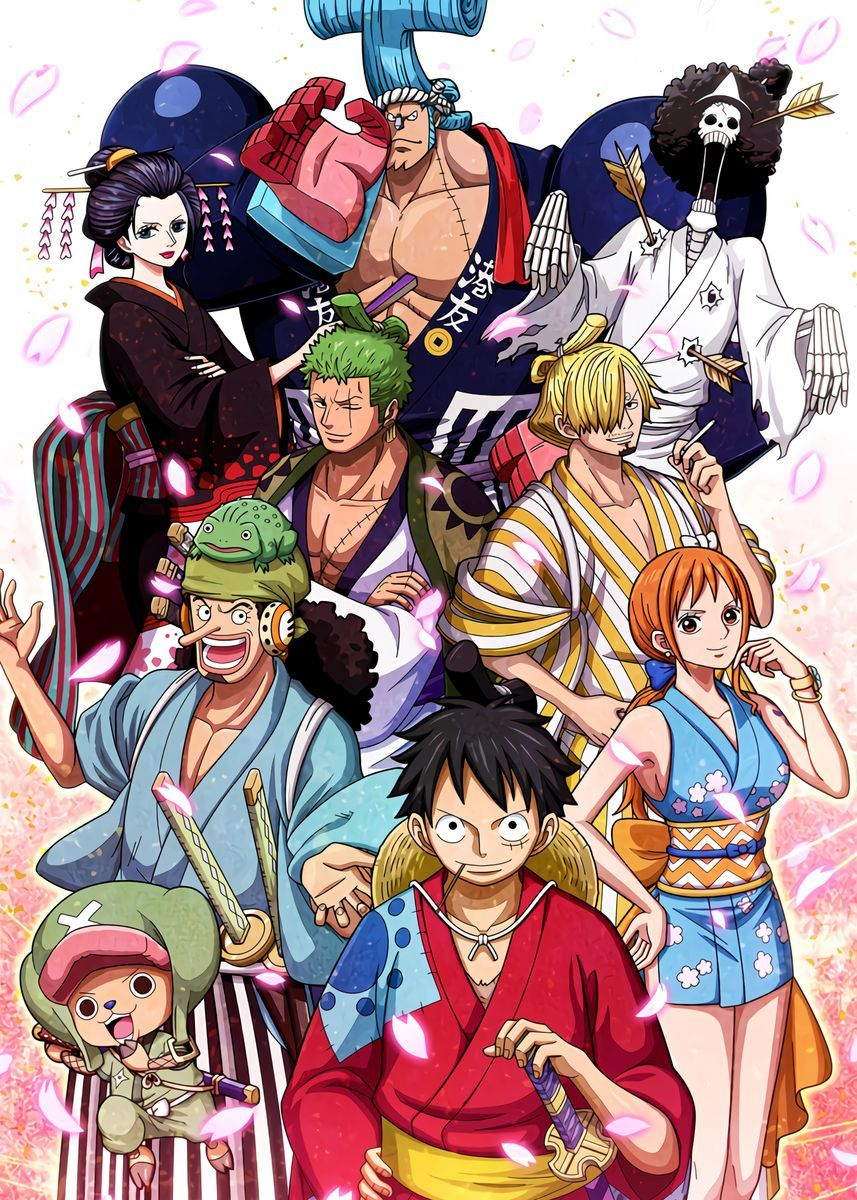 'Staw Hats wano one piece' Metal Poster Print - On
