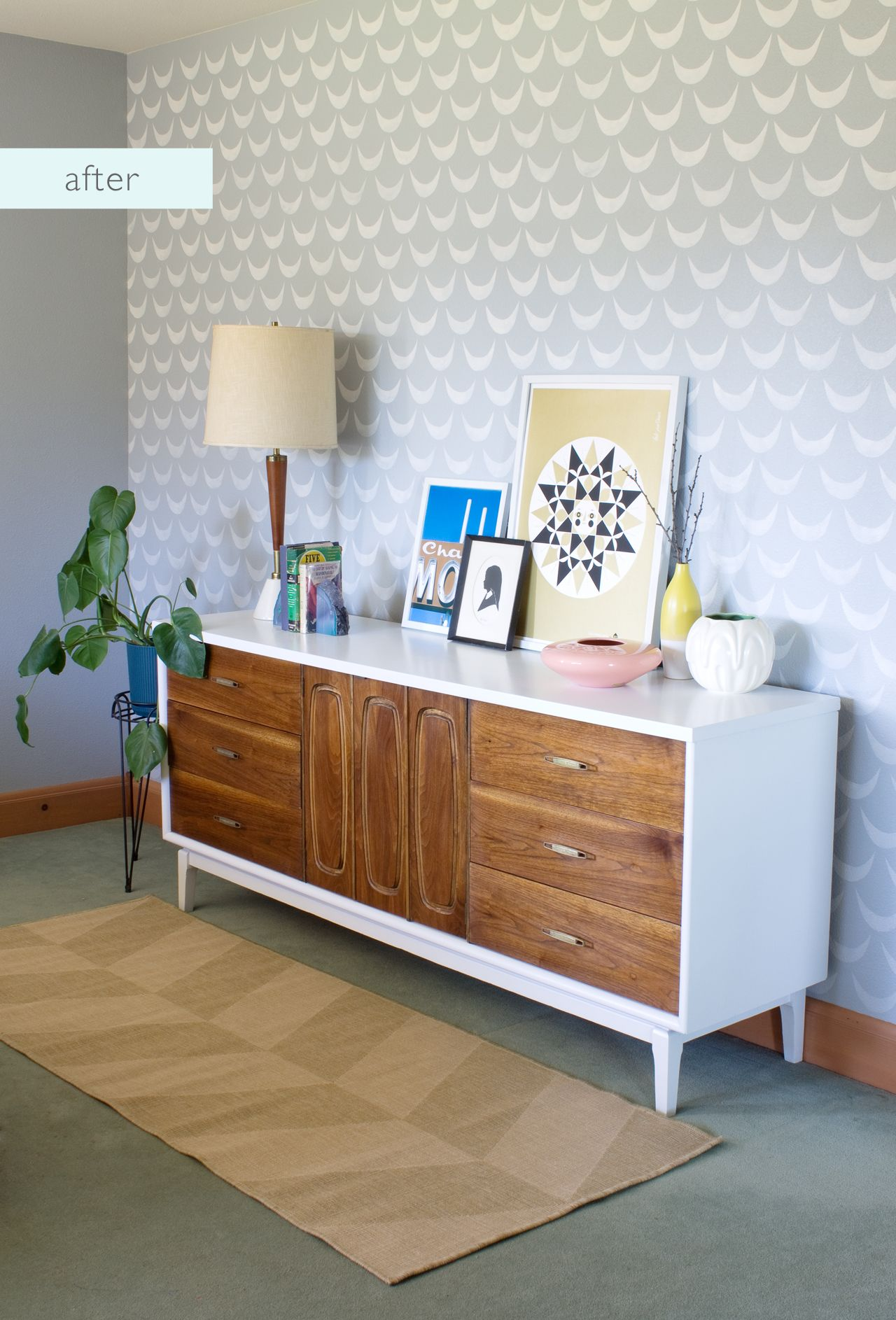Best Mid Century Dresser Makeover After Furniture Makeover 640 x 480