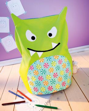 monster sitzsack f rs kinderzimmer schnittmuster und n hanleitung via n hen f r. Black Bedroom Furniture Sets. Home Design Ideas