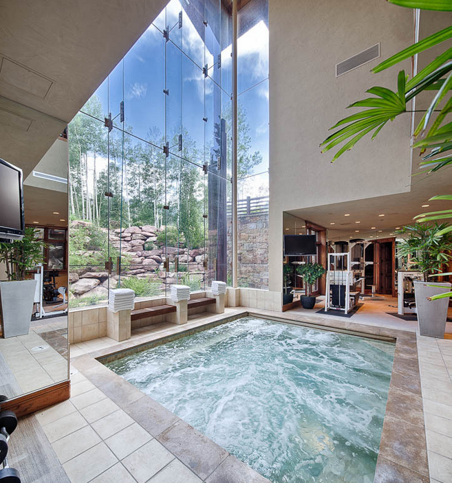 Homes Of The Rich The Web S 1 Luxury Real Estate Blog Dream Home Gym Dream Home Design Indoor Pool Design