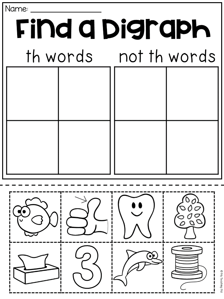 Th Worksheet Packet Digraphs Worksheets My Tpt Store