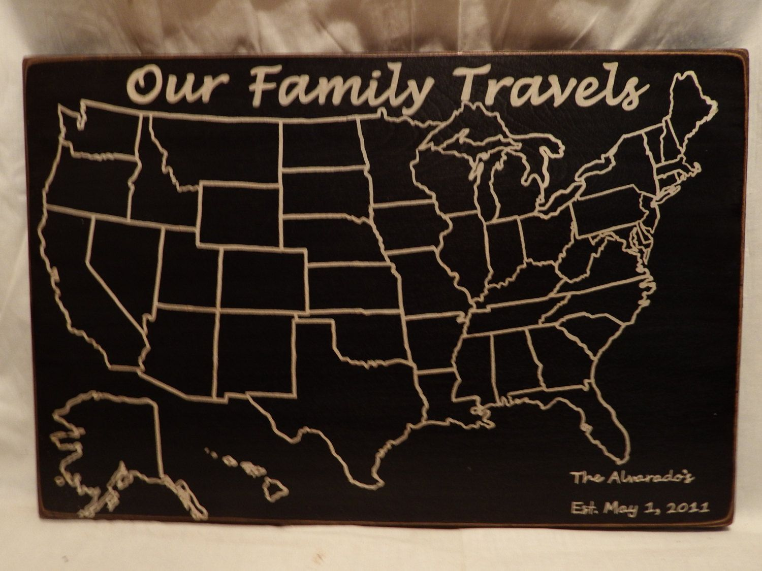 Personalized Us Map.Travel Map Adventure Map Our Family Travels Us Wood Map Usa