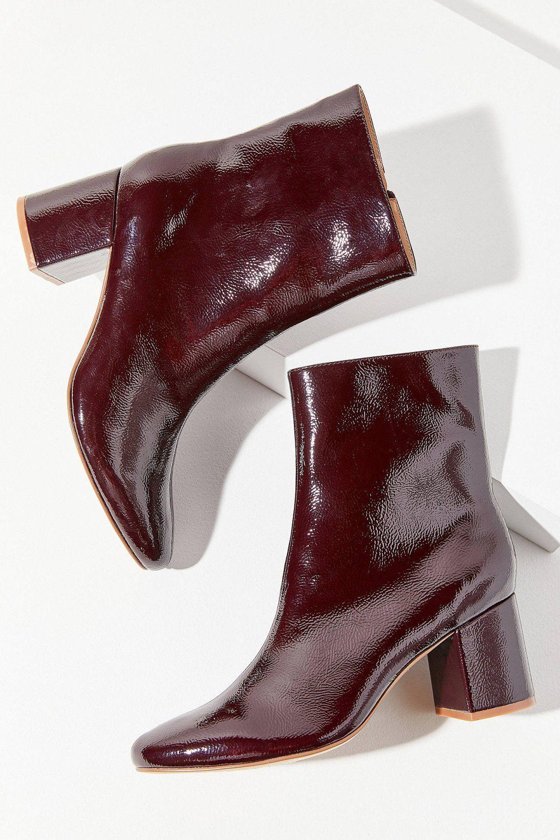 UO Alana Crinkle Patent Boot | Urban