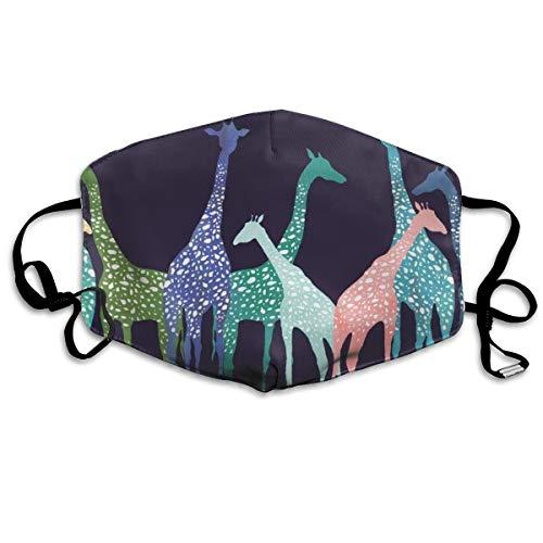 Carpeijianwo Colored Giraffe Pattern MASK Protective Fashion Air Mask Washable and Reusable Double Layered Face Mask Masks20200415 [Masks2004151514] - $9.99 : hotopictshirts.shop