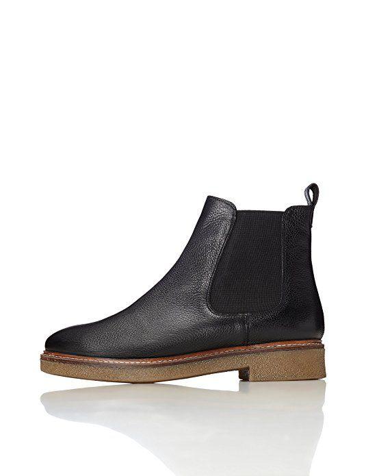 27dbc7d39e FIND Damen Chelsea Boots, Schwarz (Black), 36 EU | Schuhe Damen ...
