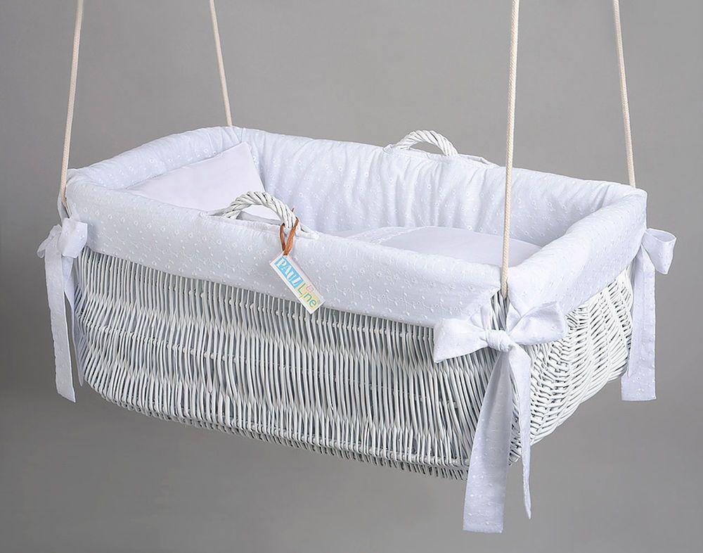 h ngewiege h ngekorb wei stickbatist wei babys kinder pinterest h ngewiege baby m bel. Black Bedroom Furniture Sets. Home Design Ideas