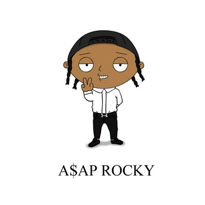 A$ap Rocky Pop Culture Icons Re-Imagined as Cartoons - SNEAKHYPE