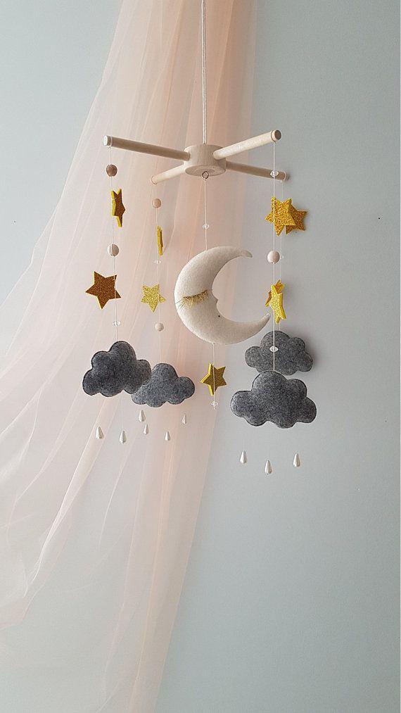 Baby Mobile Moon Stars Mobile Nursery Starry Sky Gift For Baby