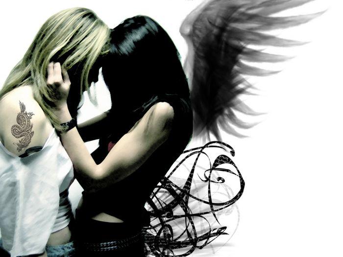 Angel and devil lesbian remarkable