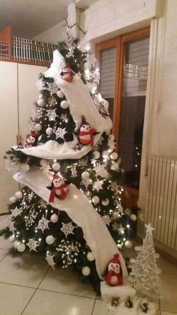 Penguin Christmas Tree Christmas Tree Themes Snowman Christmas Decorations Diy Christmas Tree