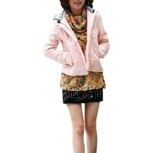 Allegra K XS Topstitching Accent Quilted Press Stud Coat for Lady Allegra K. $23.22