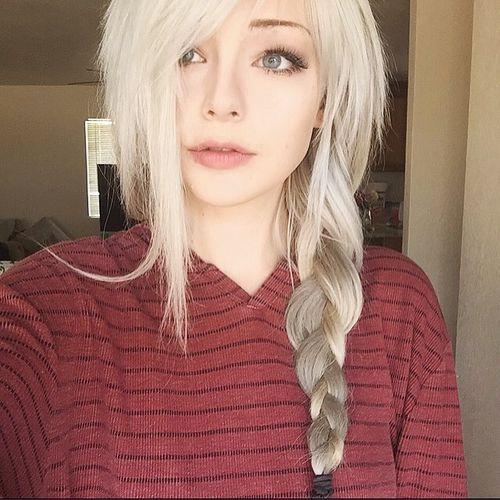 cute loose side braid hair