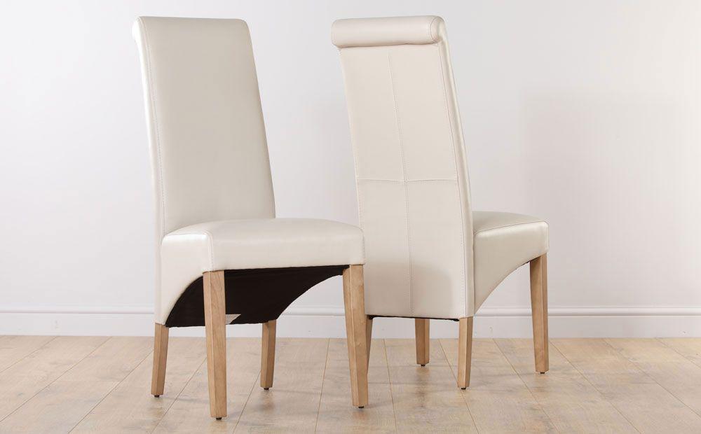 Boston Ivory Leather Dining Chair Oak Leg  Chairs Leather And New Ivory Leather Dining Room Chairs Design Decoration