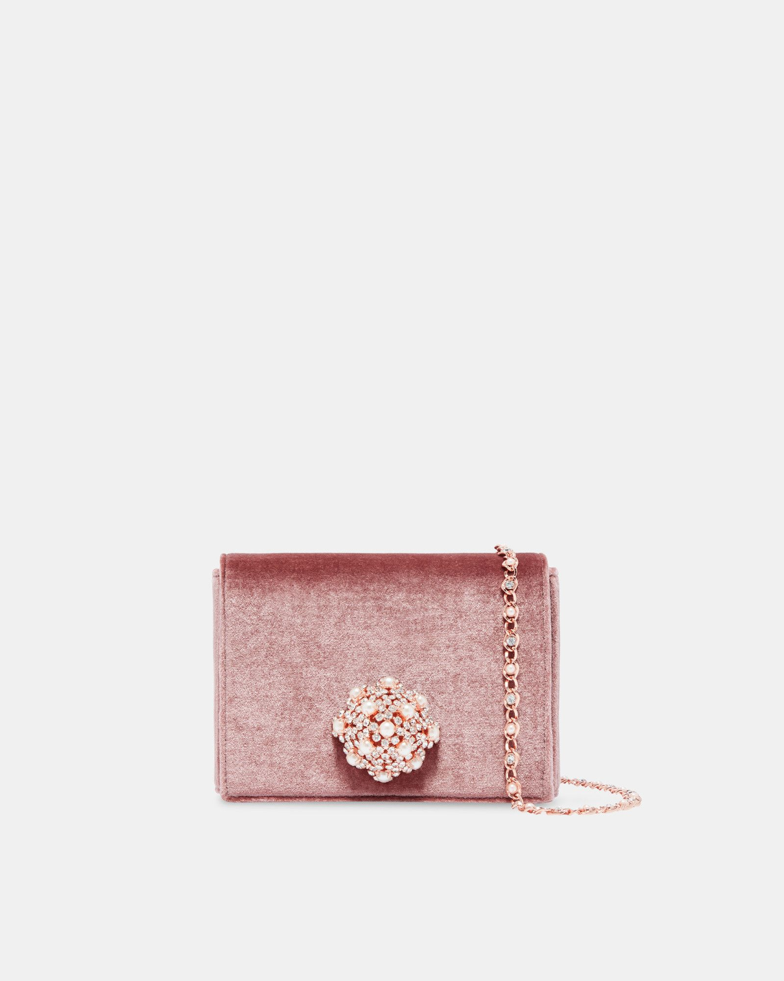 c90491484c Ted Baker Brooch detail velvet evening bag