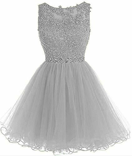 d77c22d8195 Welcome To DydszProm Party Dress Homecoming Dresses Short Beaded Appliques  A Line Ball Gown Tulle for Women Juniors Cocktail Bridesmaid Girls Plus  Size ...