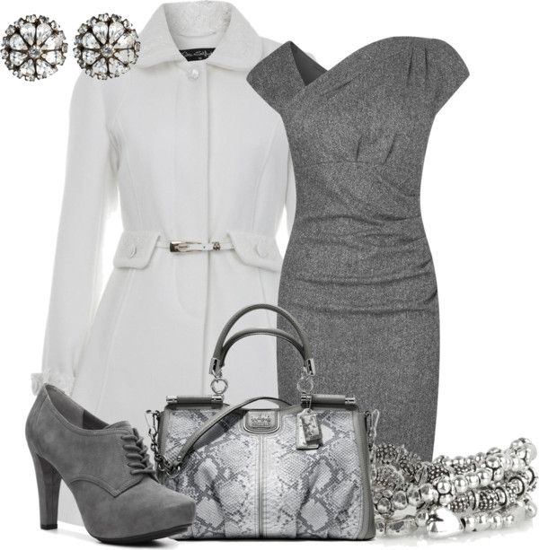 """""""Winter Whiter Coat Contest"""" by szaghloul ❤ liked on Polyvore"""