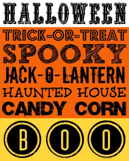 26 Boo-tiful Halloween Printable Decor  Activities free Free - halloween decoration printables