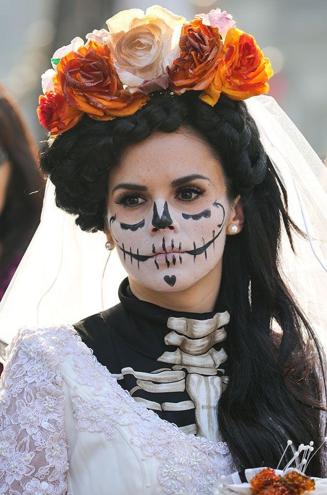NUOVO giorno dei morti-MESSICO Donna Halloween Dia De Los Muertos Costume