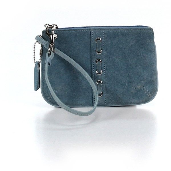 Pre-owned Coach Wristlet: Blue Women's Bags ($21) ❤ liked on Polyvore featuring bags, handbags, clutches, blue, blue purse, blue clutches, pre owned purses, preowned handbags and coach purses