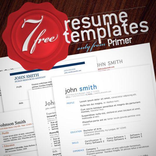 7 Free Resume Templates Job Resume Resume Templates Resume Template Free