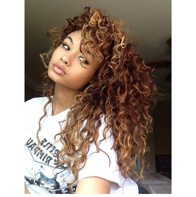 afro curly hair styles mixed highlights hair search hair 9108