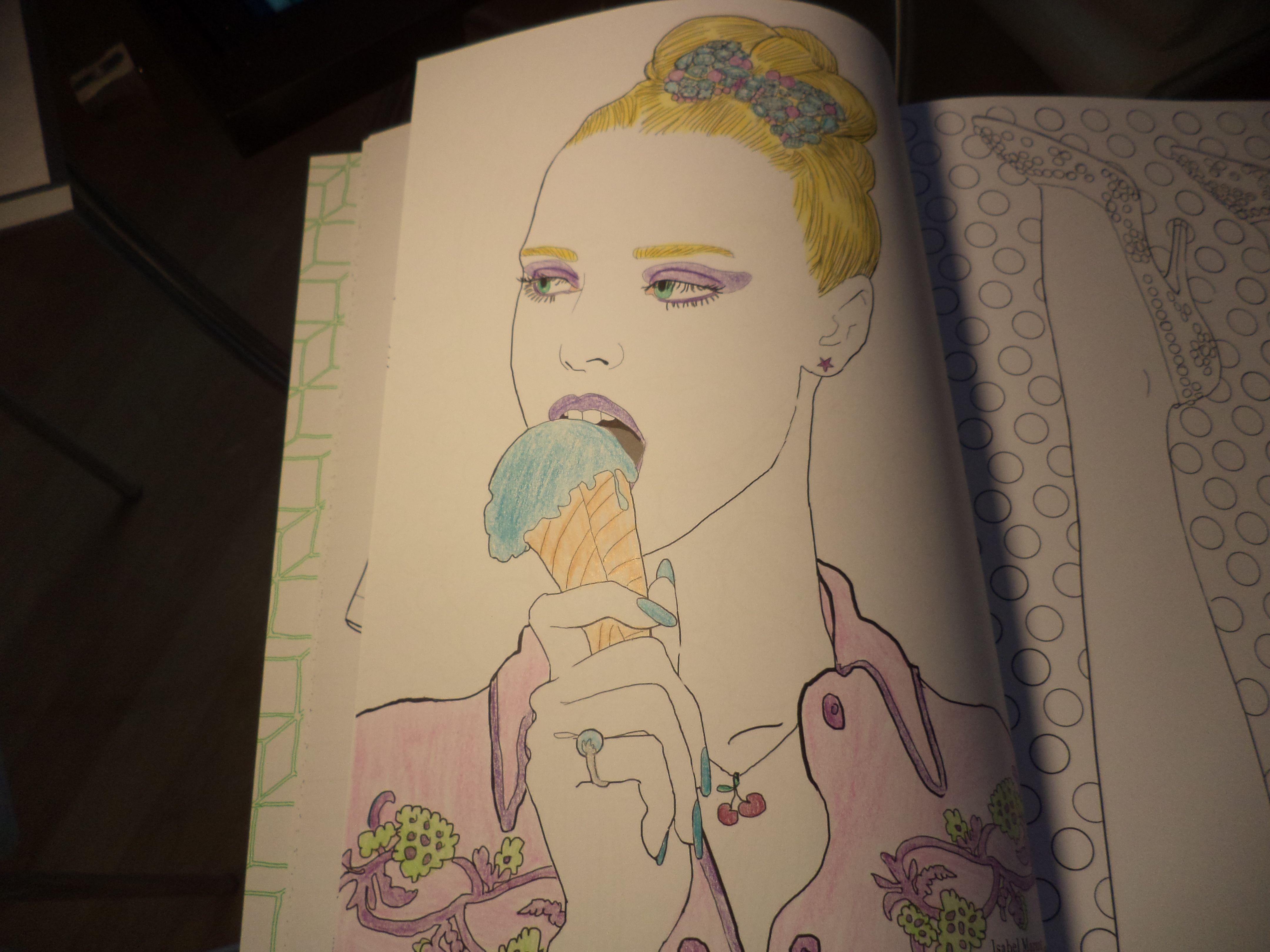 My Fashion Coloriages Hachette My Fashion Coloragie Pinterest