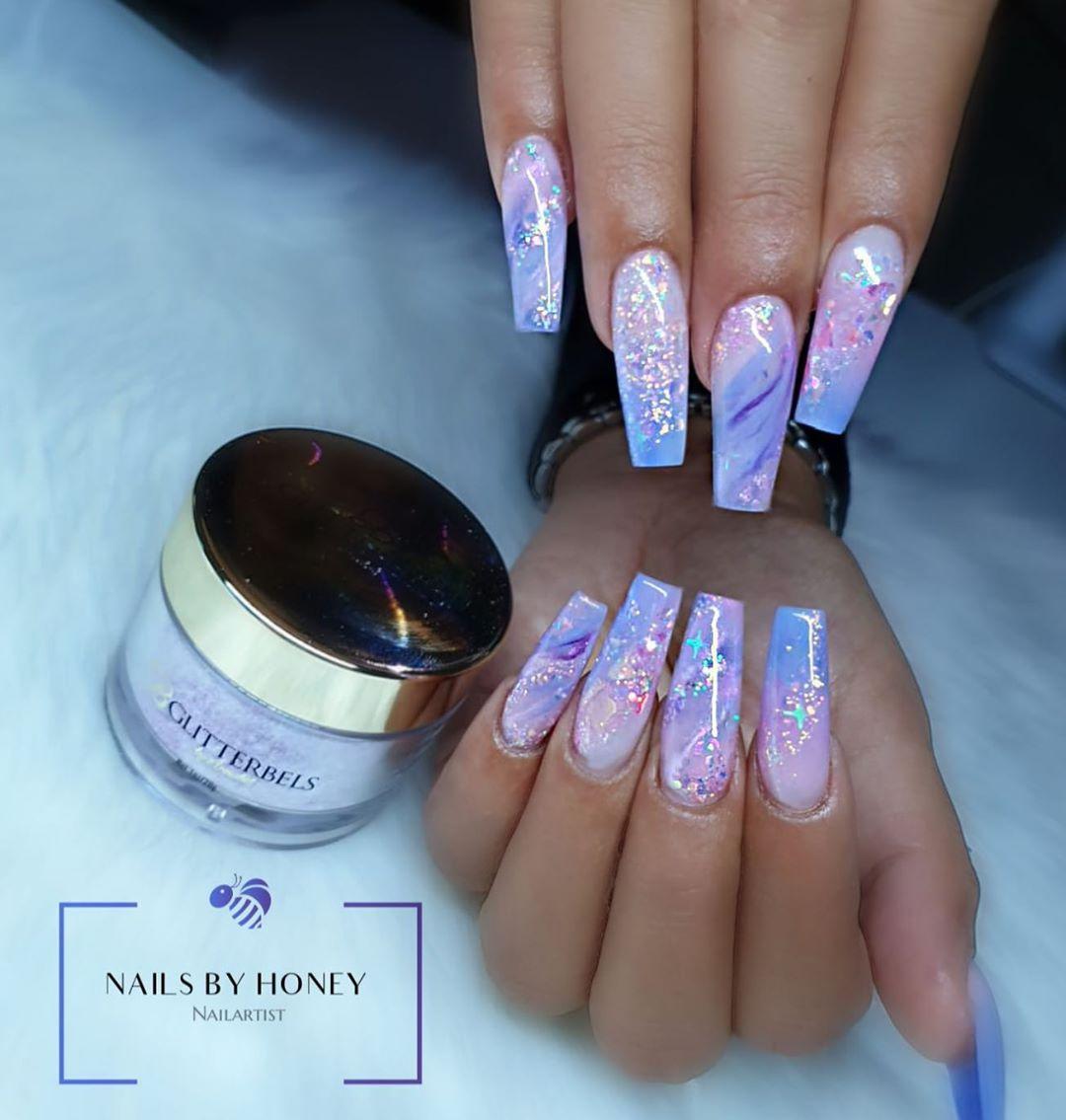 Nails By Honey On Instagram Fairytale Crush Products Used Basics Glitterbels Dehydrator Glit