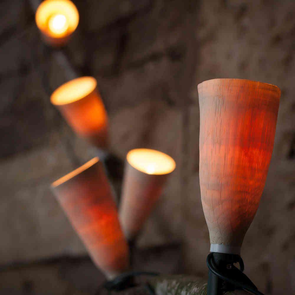 schirm f r lichterkette lampe aus holz pinterest lampen aus holz lampen und leuchten und. Black Bedroom Furniture Sets. Home Design Ideas