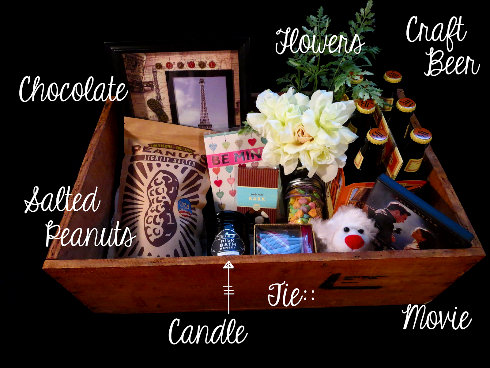 diy valentines day box or date night box gift ideas for him