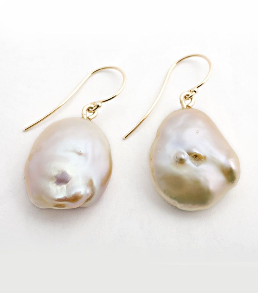 Catbird: Yayoi Forest Baroque Pink Pearl Earrings  Catbird Exclusive These  Blushpink Pearls