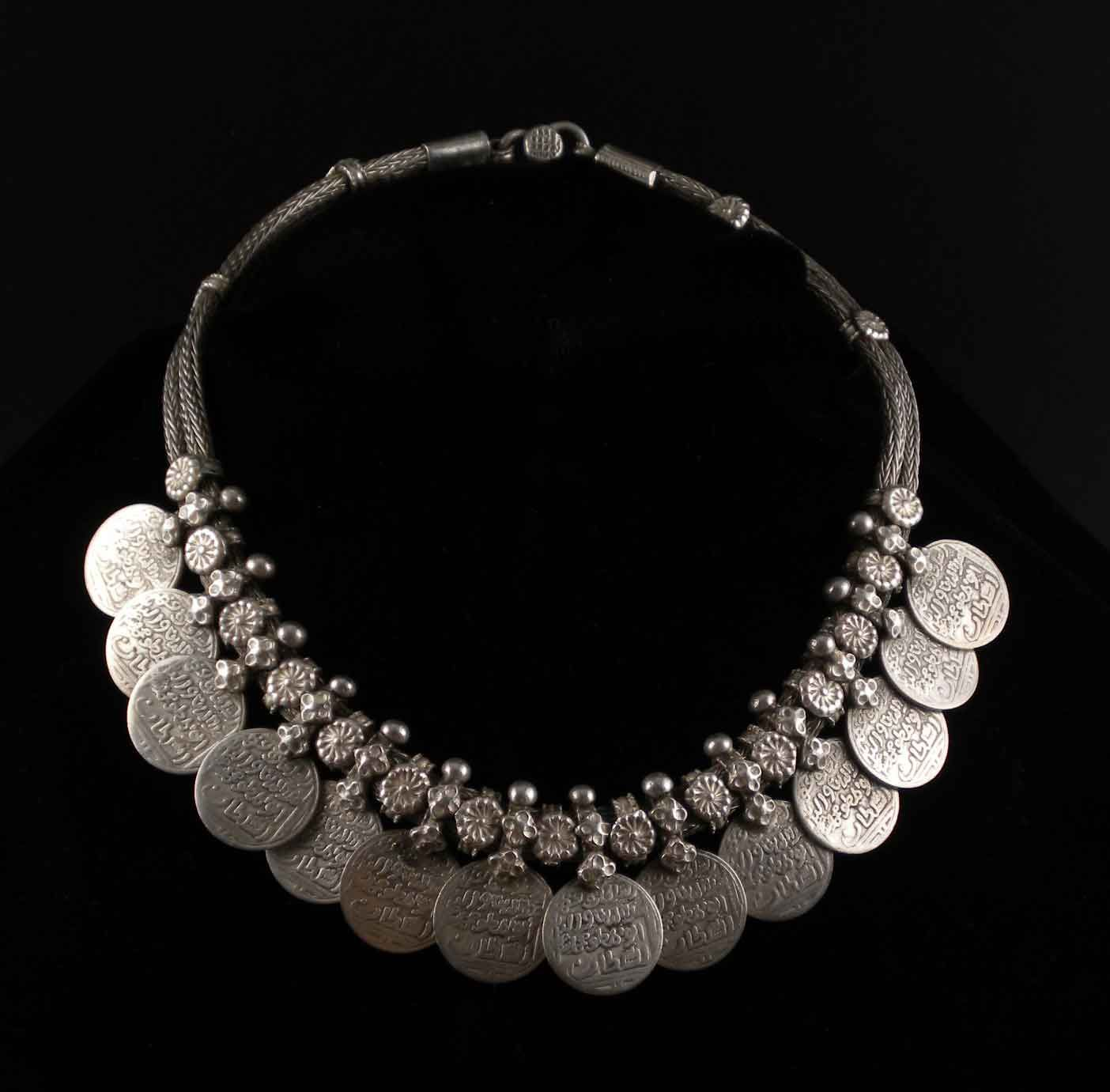 Old Silver Vintage Wedding Necklace From India By Ethnicadornment