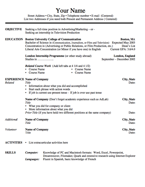 Pin By Latifah On Example Resume Cv Pinterest Resume Resume