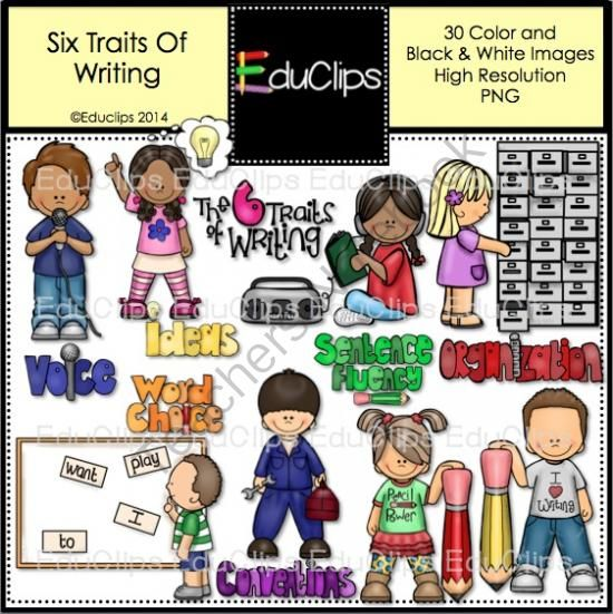 six traits of writing clip art bundle from educlips on