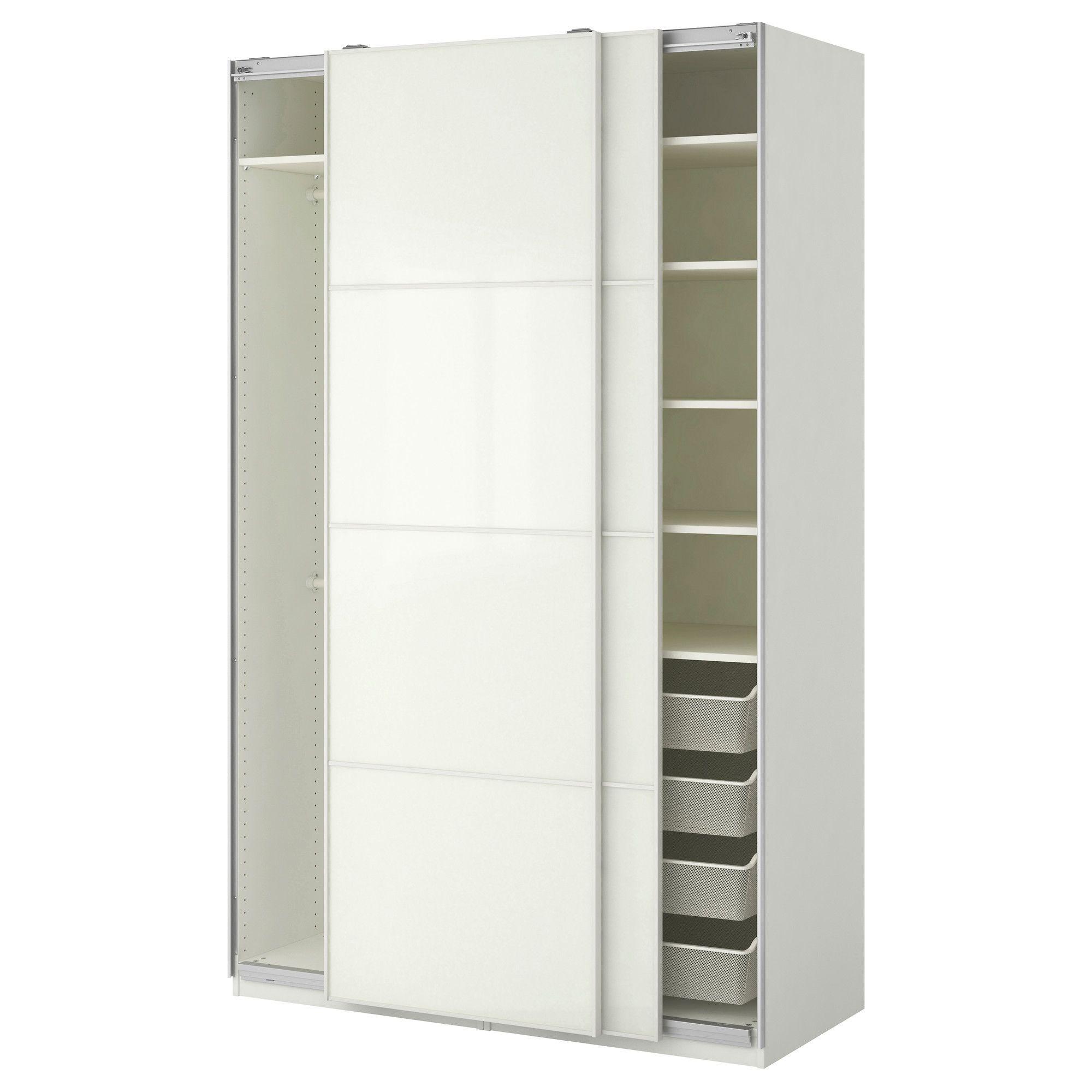 ikea - pax wardrobe white, färvik white glass   products   pax