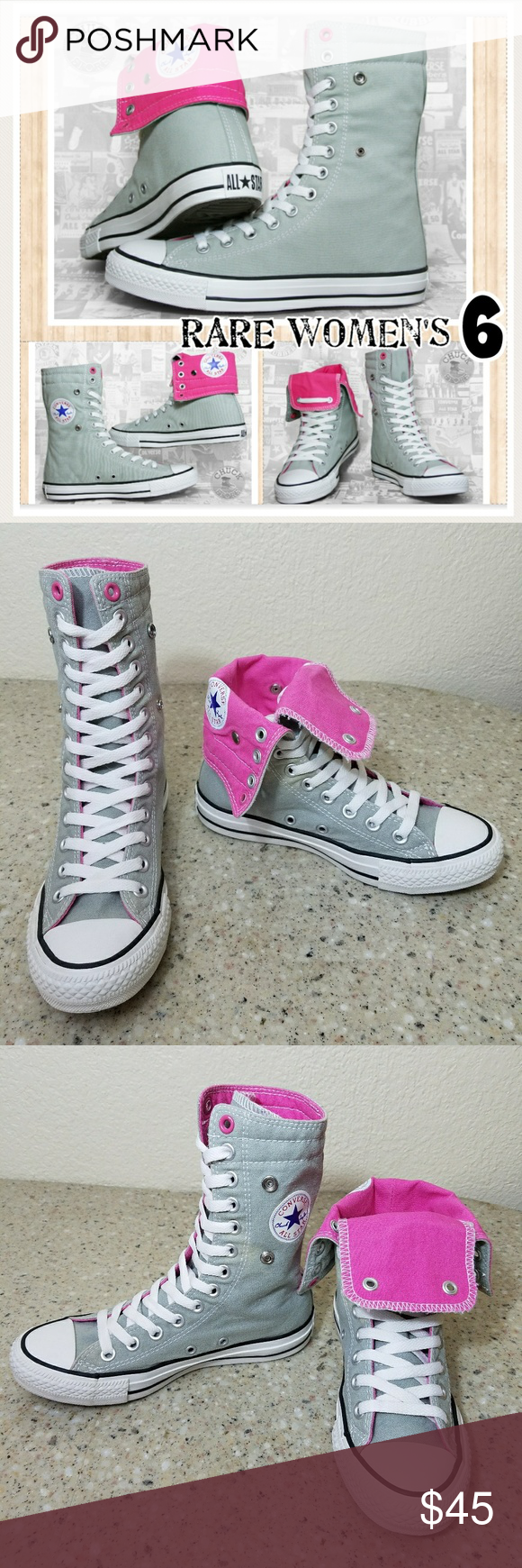 d6b9fe67f1a8 Pink Color · High Tops · Designer Handbags · RARE Converse All Star Women s  6 Converse All Star shoes. These are RARE