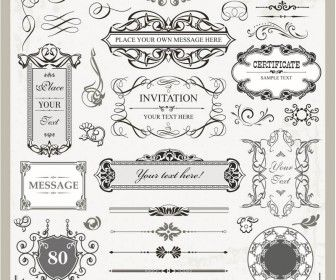 Decorative wedding frames vector silhouettes vectorgraphicsblog decorative wedding frames vector junglespirit Images