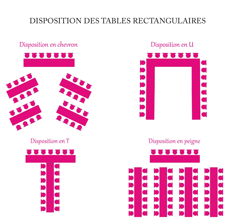 disposition de tables rectangulaires pour votre mariage. Black Bedroom Furniture Sets. Home Design Ideas