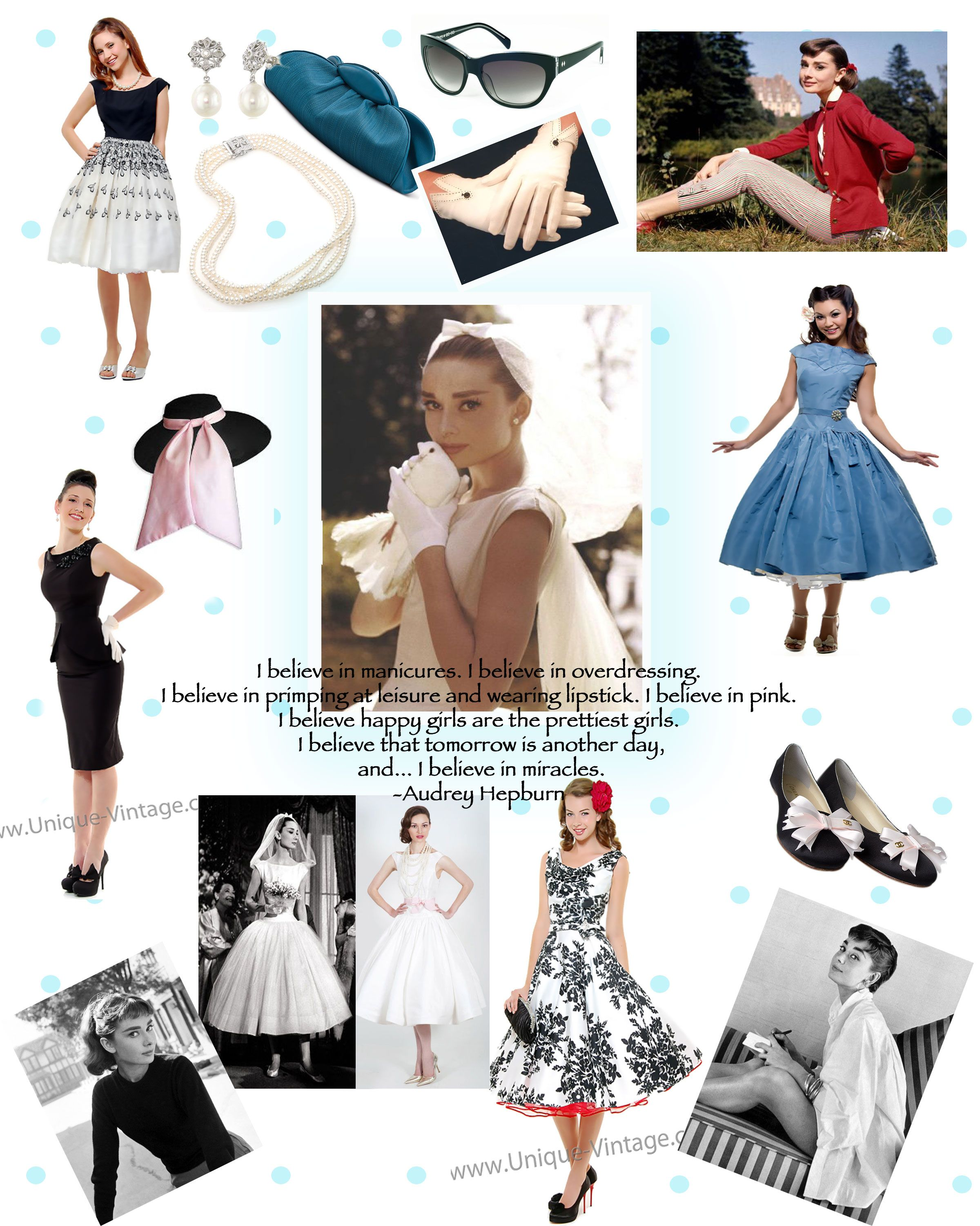 Hepburn style dress up
