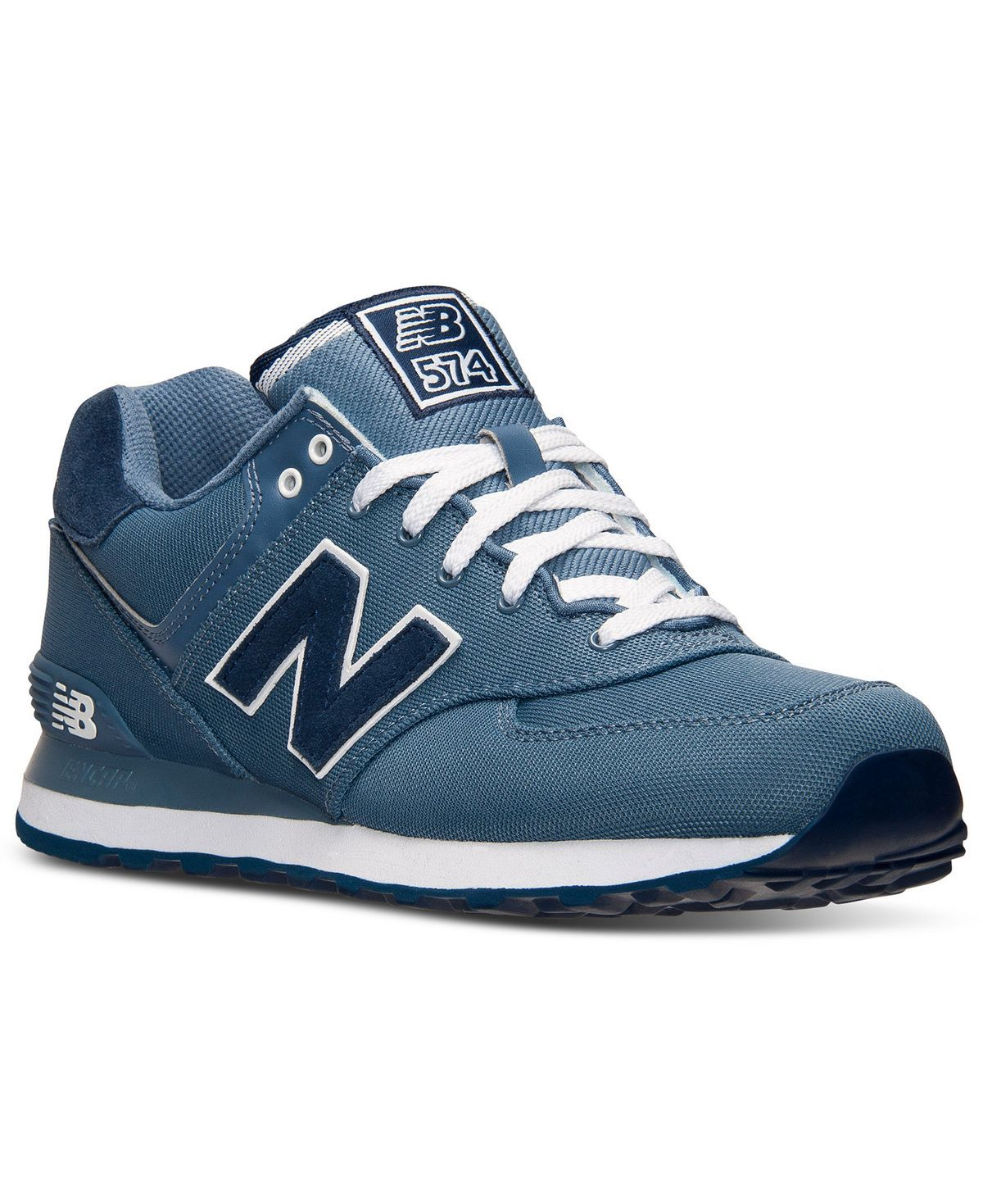 New Balance Men's 574 Pique Polo Casual Sneakers from Finish Line ...
