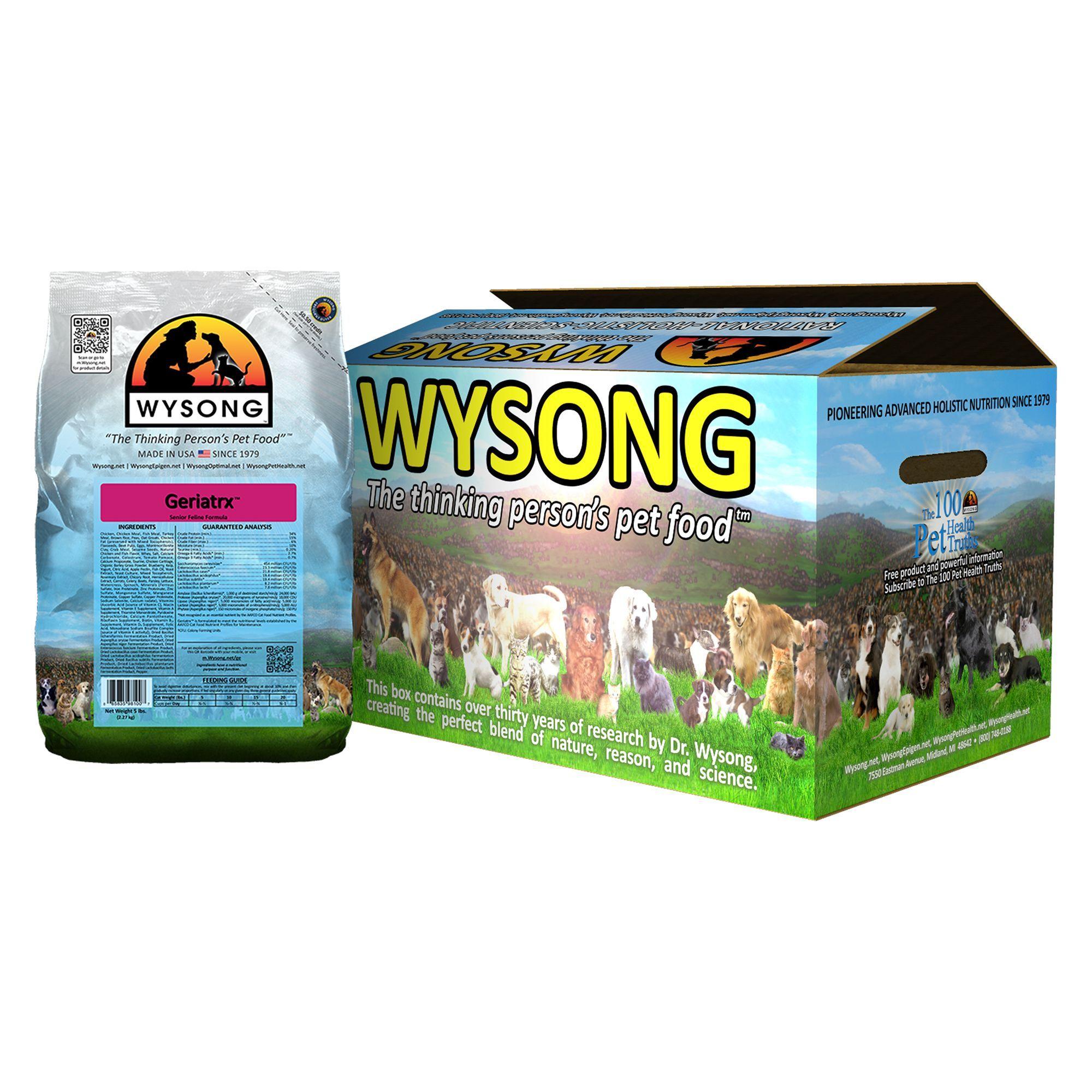 Wysong Geriatrx Senior Cat Food Turkey size 20 Lb