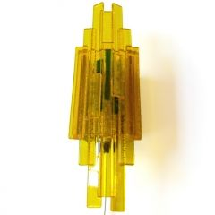 1960s/1970s acrylic wall light by Claus Bolby