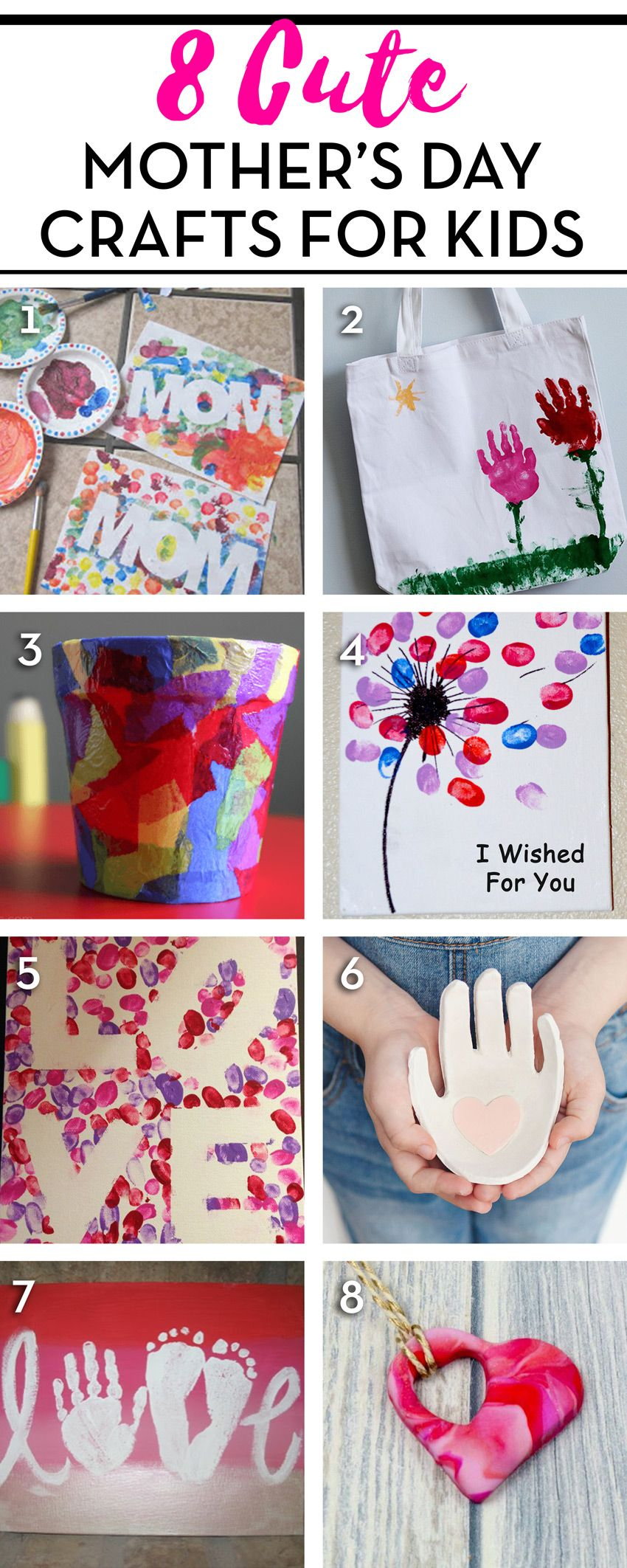 Here Are 8 Cute Mother S Day Crafts On Pinterest Diy Mother S