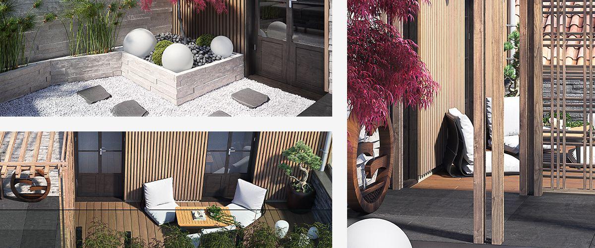 Terrasse Zen Jardin Japonais Sur Les Toits De Bordeaux