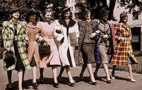 Coats on parade, 1940's