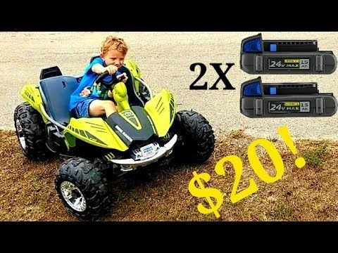 Power Wheels Dune Racer 24 Volt Conversion Step By Step Youtube